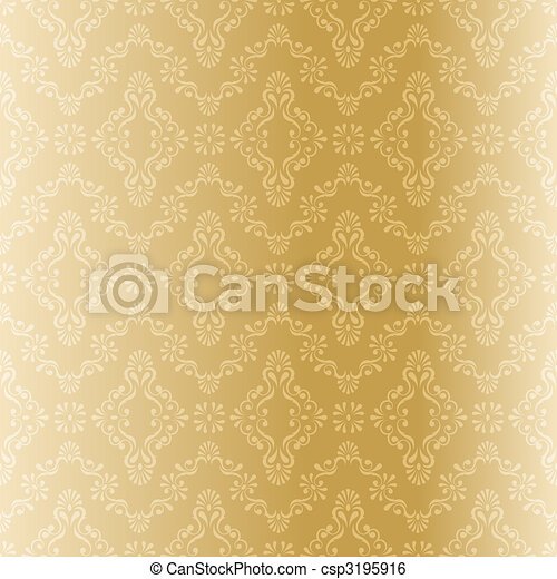Seamless gold filigree Muster - csp3195916