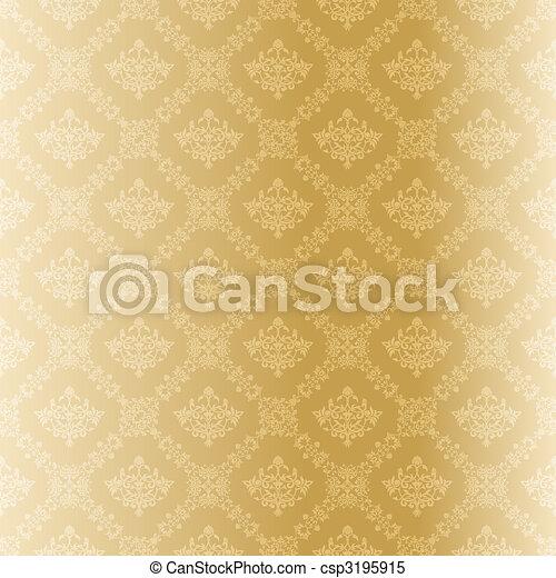 Seamless gold filigree Muster - csp3195915