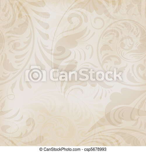 seamless, hintergrund, blumen-, weinlese - csp5678993