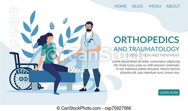 service, landung, seite, traumatology, orthopädisch - csp75927066