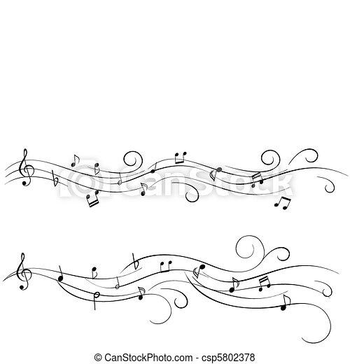 Sheet-Musik - csp5802378