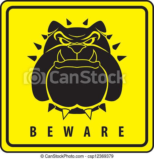 sicherheit, hund - csp12369379