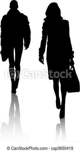 Silhouette-Mädchen - csp3650419