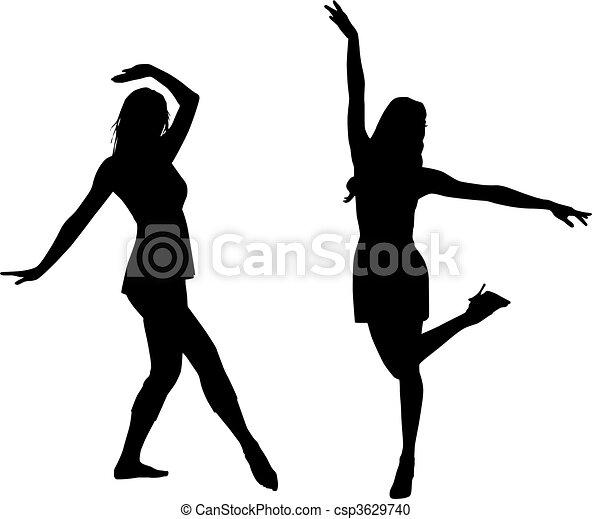 Silhouette mag Frauen - csp3629740