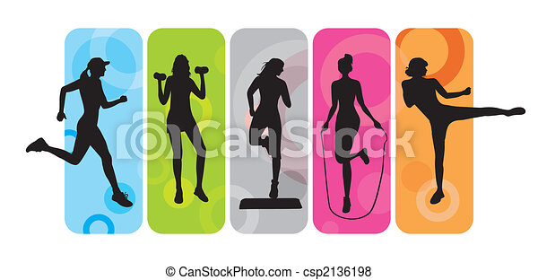 Fitness-Silhouettes - csp2136198