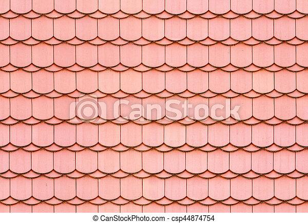 Sitzlose Dachziegelstruktur. - csp44874754