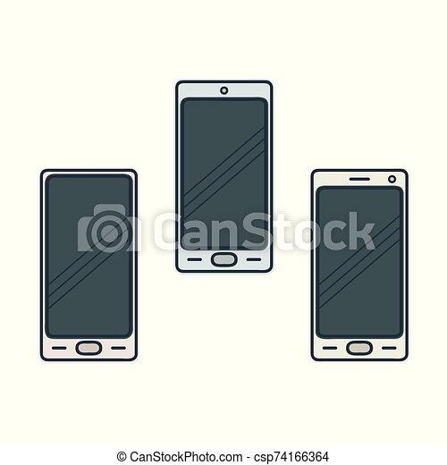 smartphone, abbildung, satz - csp74166364