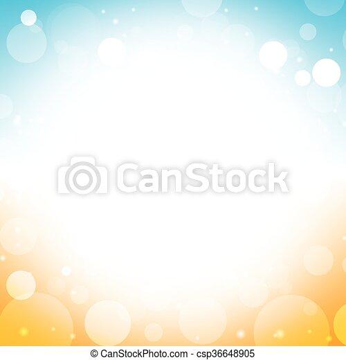 Sommerhintergrund - verschwommene Himmelsonne. - csp36648905