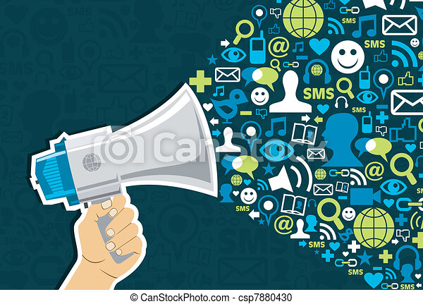 Marketing für soziale Medien - csp7880430