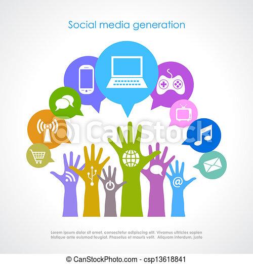 Soziale Mediengeneration - csp13618841