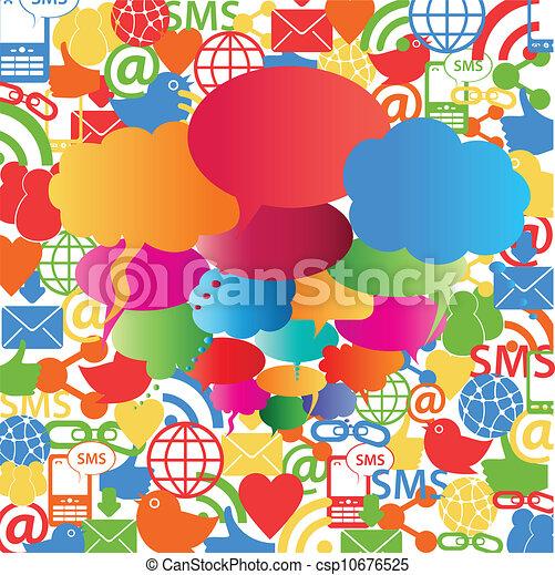 Soziale Netzwerk-Rede Blasen - csp10676525