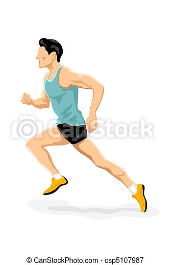 Sportler laufen - csp5107987