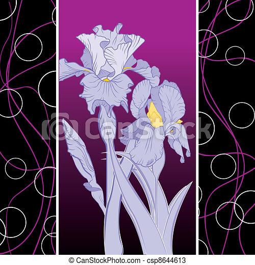 Spring blühende Irismuster - csp8644613