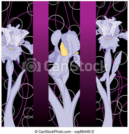 Spring blühende Irismuster - csp8644612