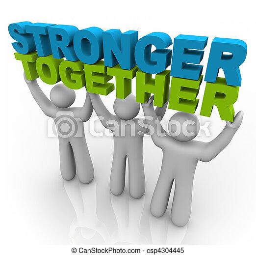 Stärker zusammen - die Worte heben - csp4304445