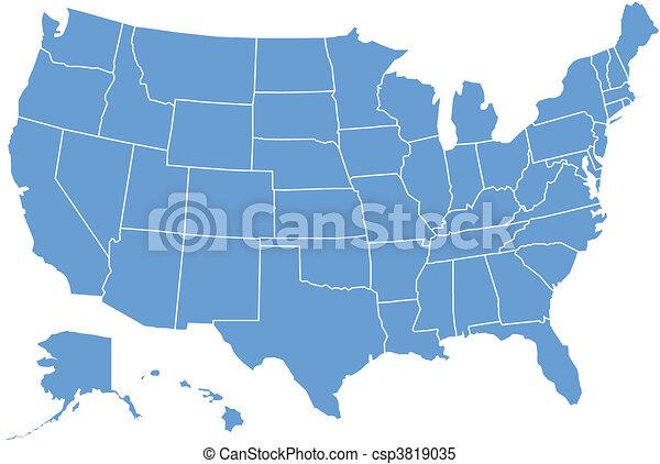 staaten, landkarte, vereint - csp3819035