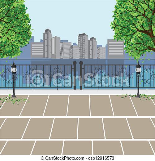 Stadtbesichtigung im öffentlichen Park - csp12916573