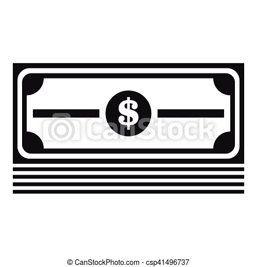 Stapel Dollar-Ikone, einfache Art - csp41496737