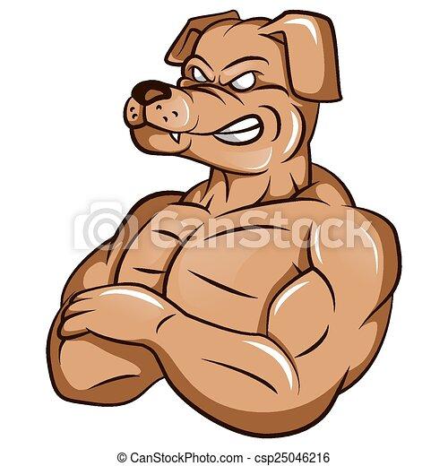 starke , hund, maskottchen - csp25046216