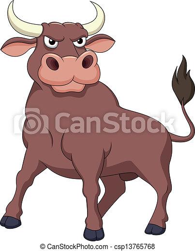Starker Bull Cartoon - csp13765768