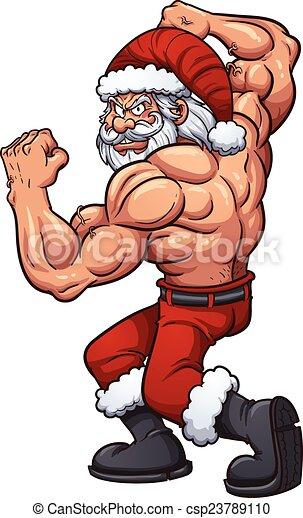 Starker Weihnachtsmann - csp23789110