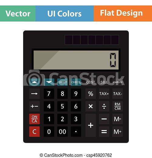 Statistisches Taschenrechner-Icon - csp45920762