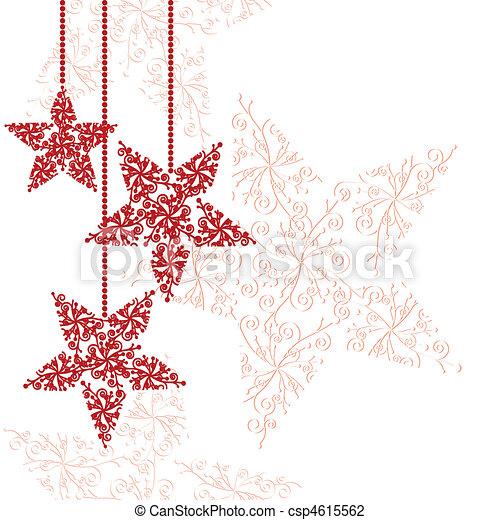 Rote Weihnachtsstern-Ornamente - csp4615562