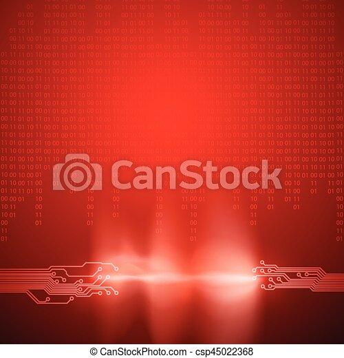Stream von Binärcode mit Schalttafeltextur - csp45022368