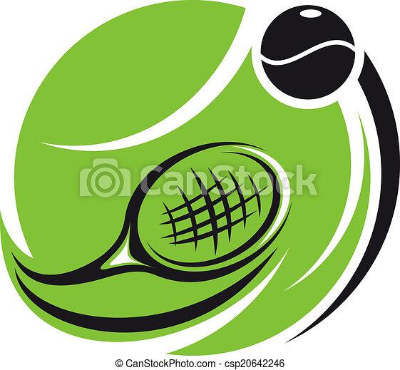 Stylisierte Tennis-Ikone. - csp20642246