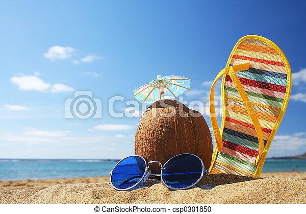 Summer Beach Szene. - csp0301850