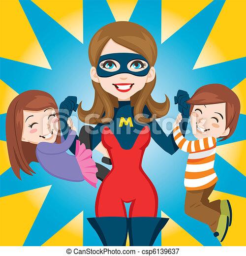 Superheld, Mom - csp6139637