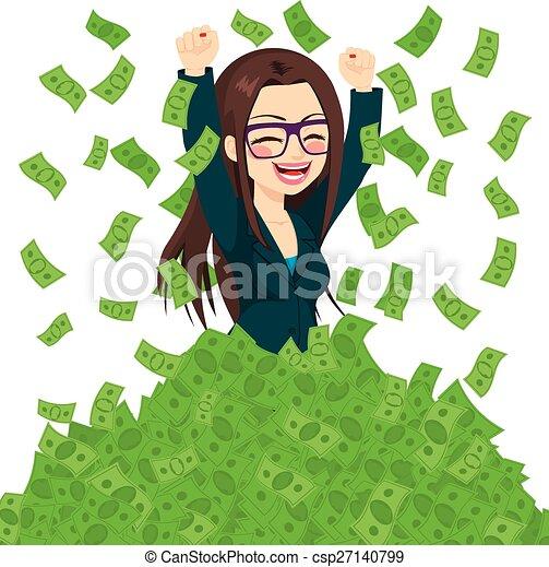 Superreiche erfolgreiche Geschäftsfrau. - csp27140799