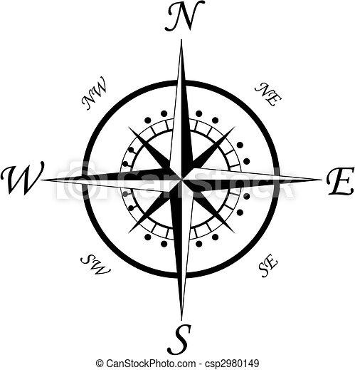 symbol, kompaß - csp2980149