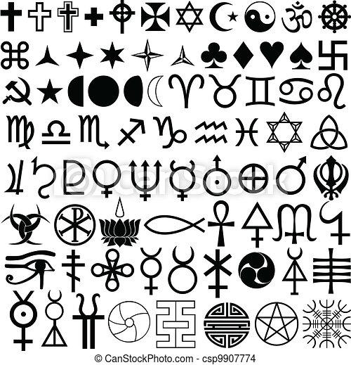 Symbole, Religion, Geschichte - csp9907774