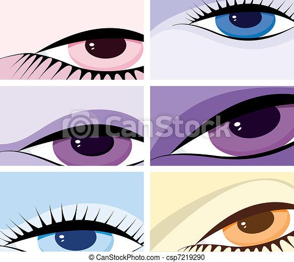 Symbolisches Bild der Augen - csp7219290