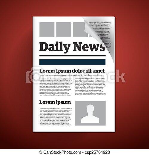 Tägliche Zeitung. - csp25764928