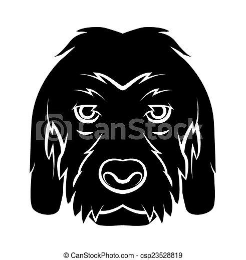 t�towierung, kopf, hund - csp23528819