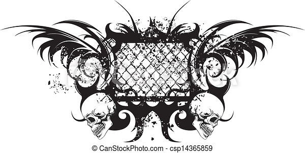 Stammes Tattoo mit Schädeln - csp14365859