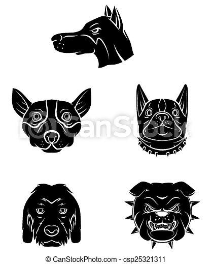 Tätowierungssymbol von Hundekopf - csp25321311