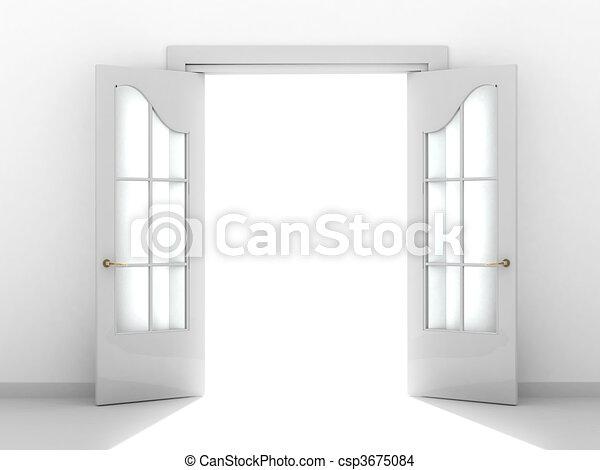 Tür öffnen - csp3675084
