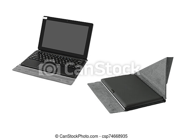 tablette pc, keyboard. - csp74668935