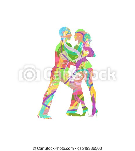 Tanzpaar. - csp49336568
