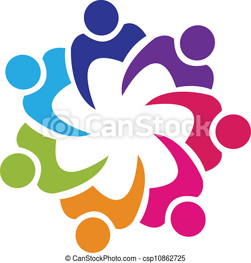 Teamwork Gewerkschaftler Logovektor - csp10862725