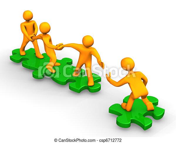 Teamwork hilft - csp6712772