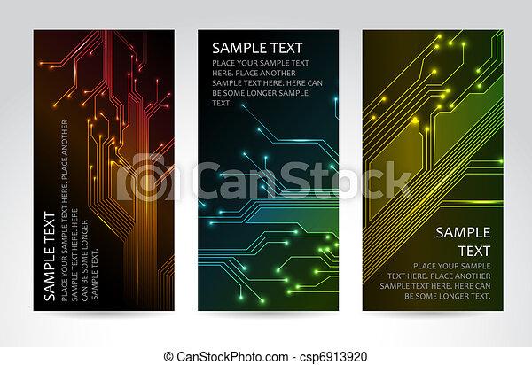 technisch, banner, satz, modern - csp6913920