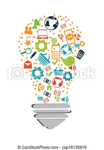 technologie, design - csp18135919