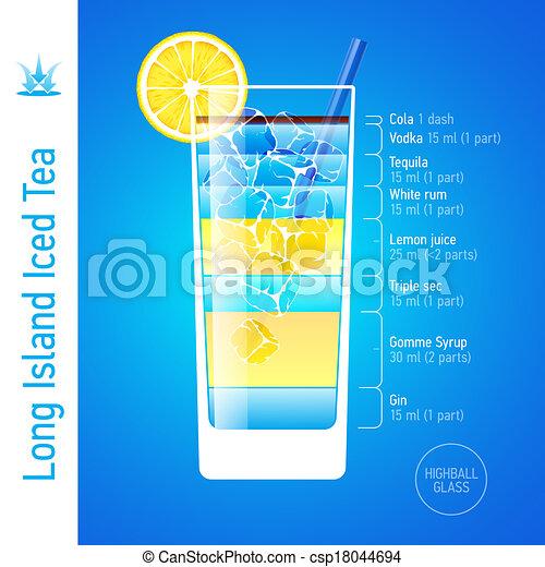 tee, vereiste, langer, cocktail, insel - csp18044694