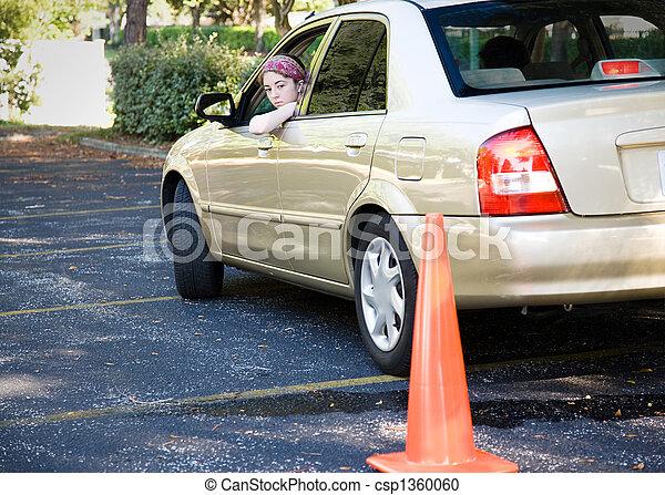 Teen Fahrprüfung - Parken - csp1360060
