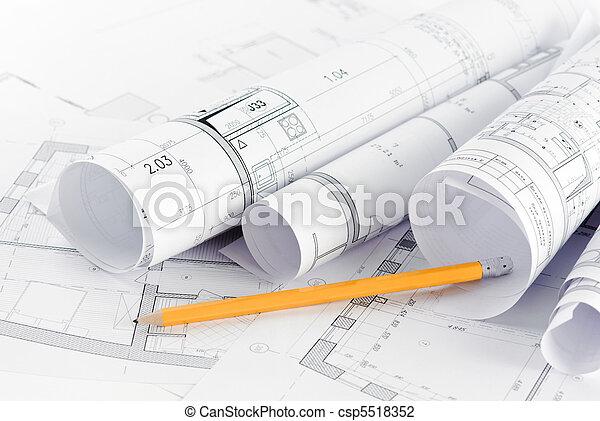 Teil des architektonischen Projekts. - csp5518352