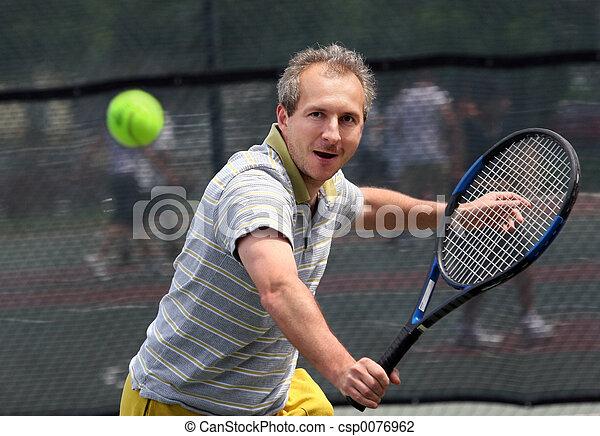 Tennisspieler. - csp0076962
